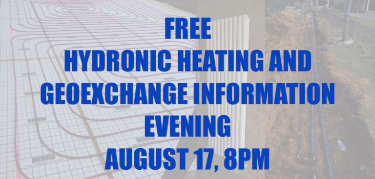 Adelaide Geoexchange - Hydronic and Geoexchange Information Evening