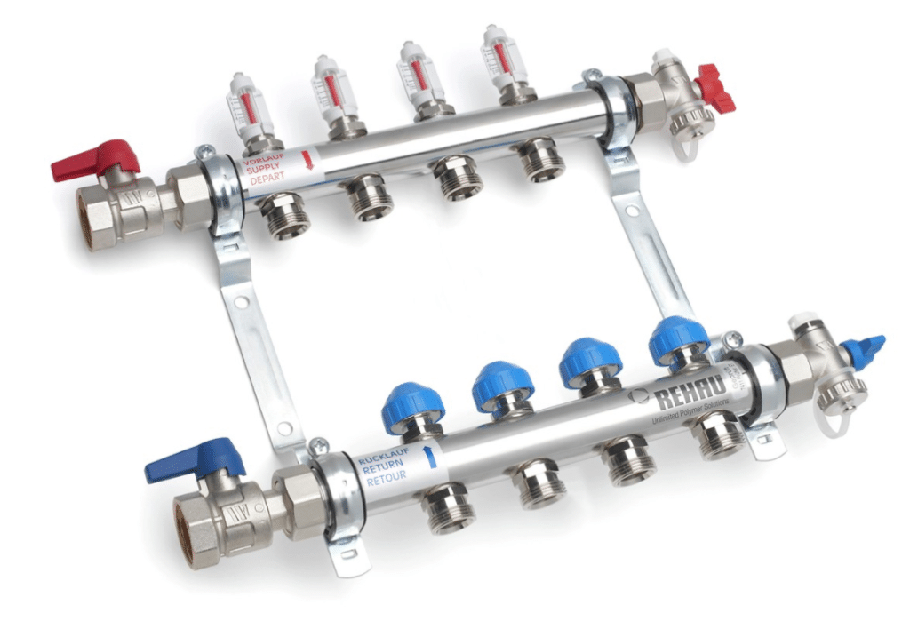 Rehau hydronic heating manifolds