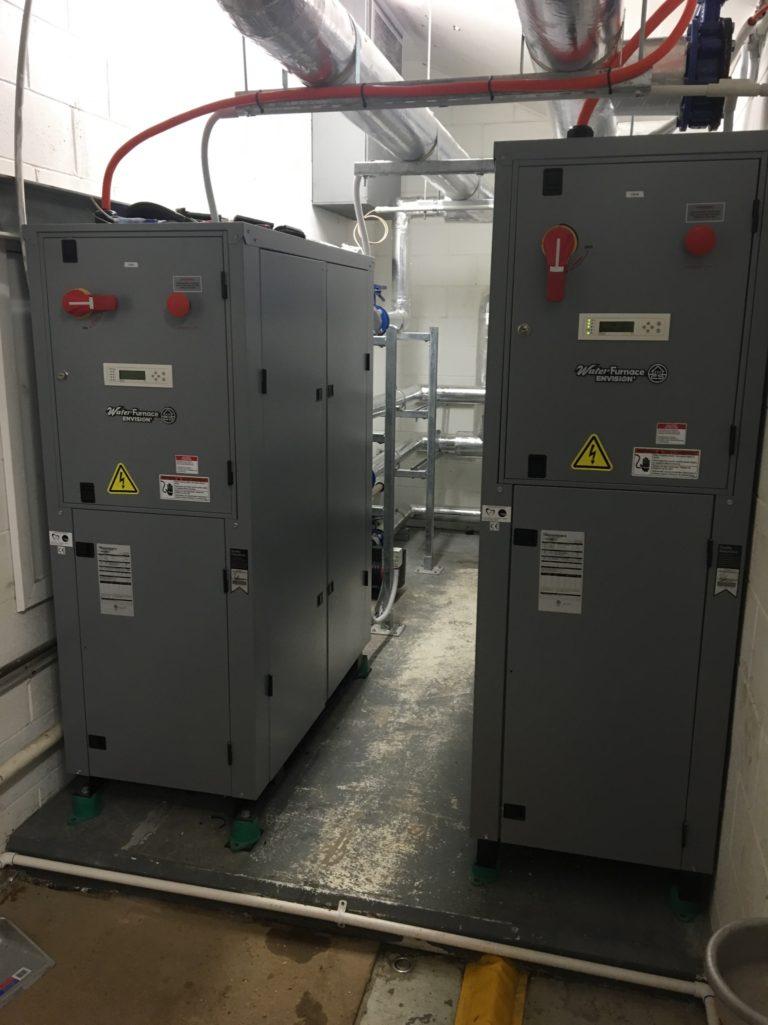 WaterFurnace Geoexchange Water to Water heat pumps for Commercial pool heating at St Peters College Adelaide Geoexchange