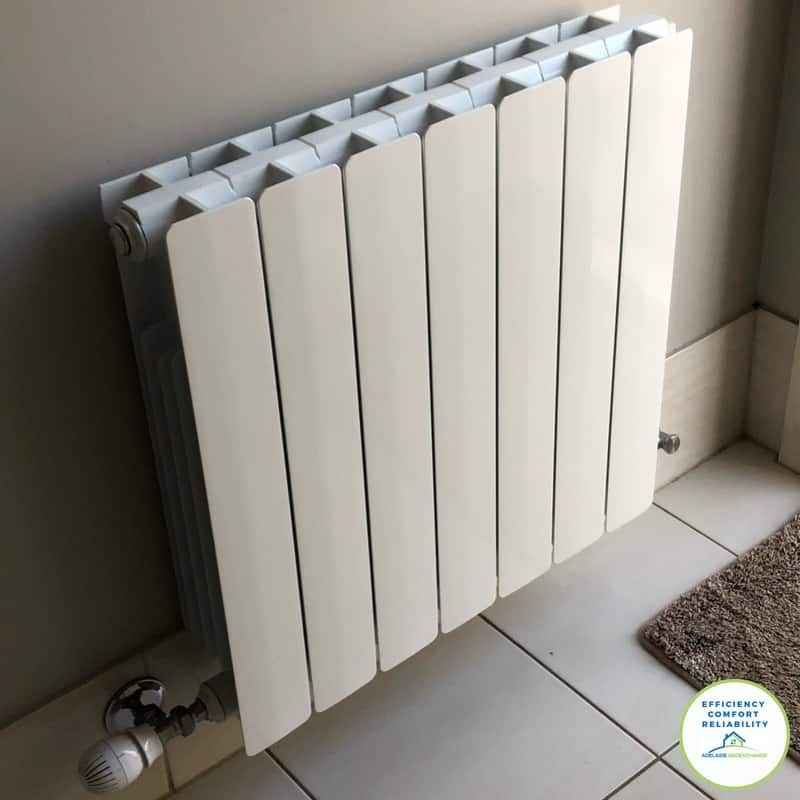 Hydronic heating radiator Aluminium for a modern look