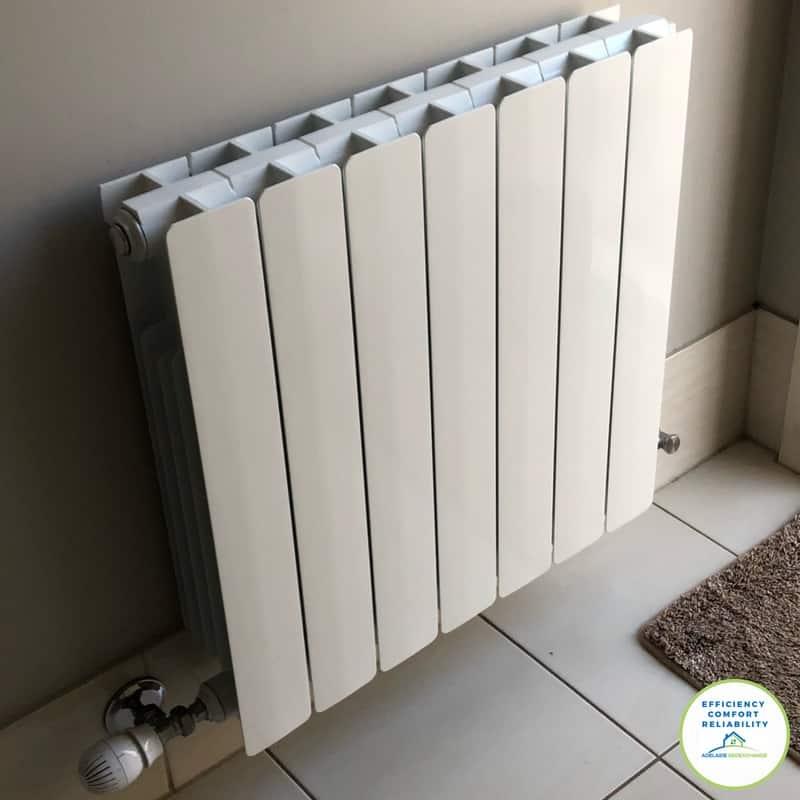 Hydronic heating radiator Aluminium for a modern look