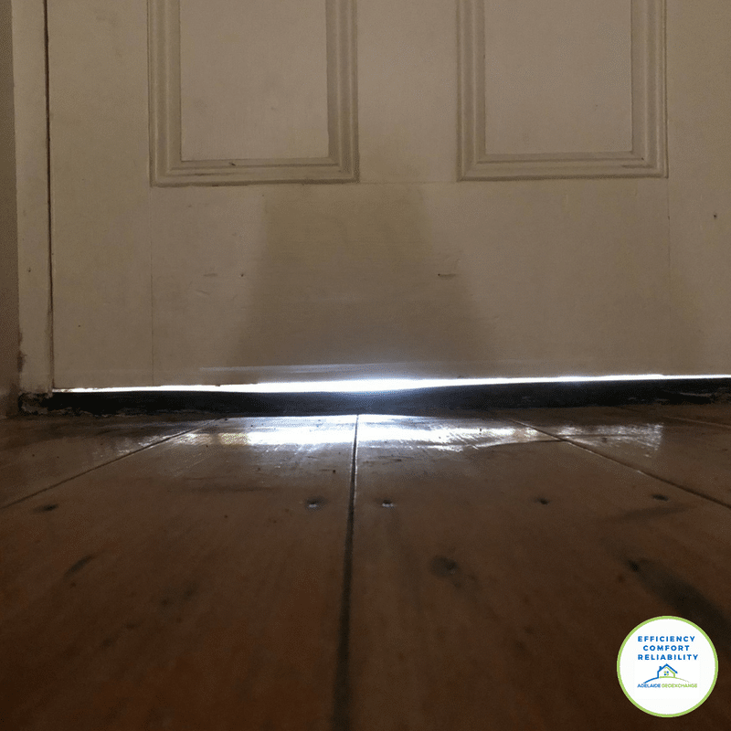 Door 2 with gap air leaks in a leaky home