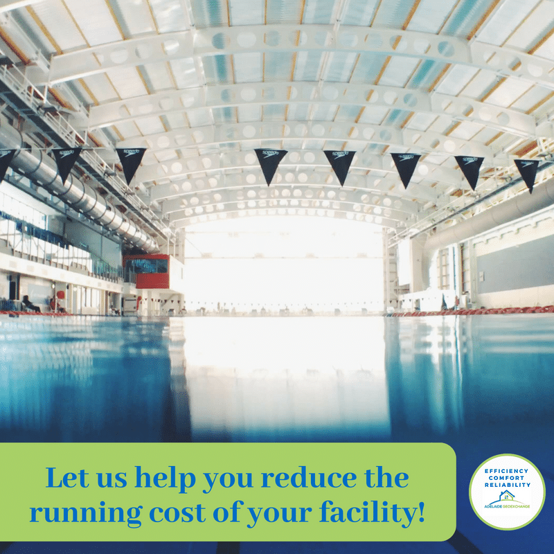 Commercial Geoexchange Systems can reduce your pool facilities running costs by up to 60%