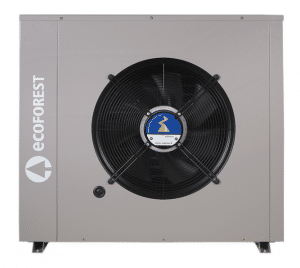 Aerothermal unit for use with ecoForest heat pumps