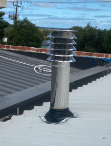 Stiebel Eltron HRV roof inlet pipe and cowl installed in Woodforde