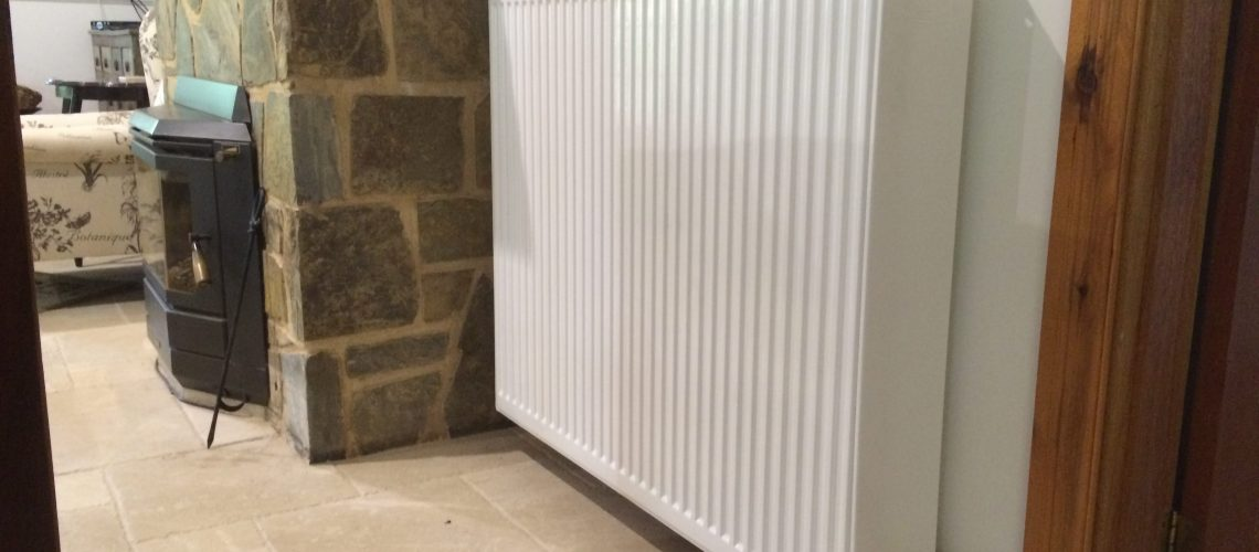 No fossil fuel - Hydronic radiator running with Air to water heat pump in the Adelaide Hills