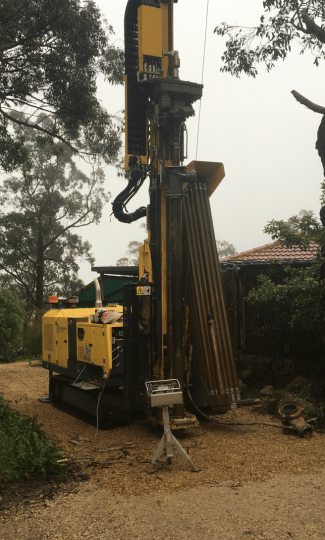 Geoexchange vertical drill rig Adelaide South Australia